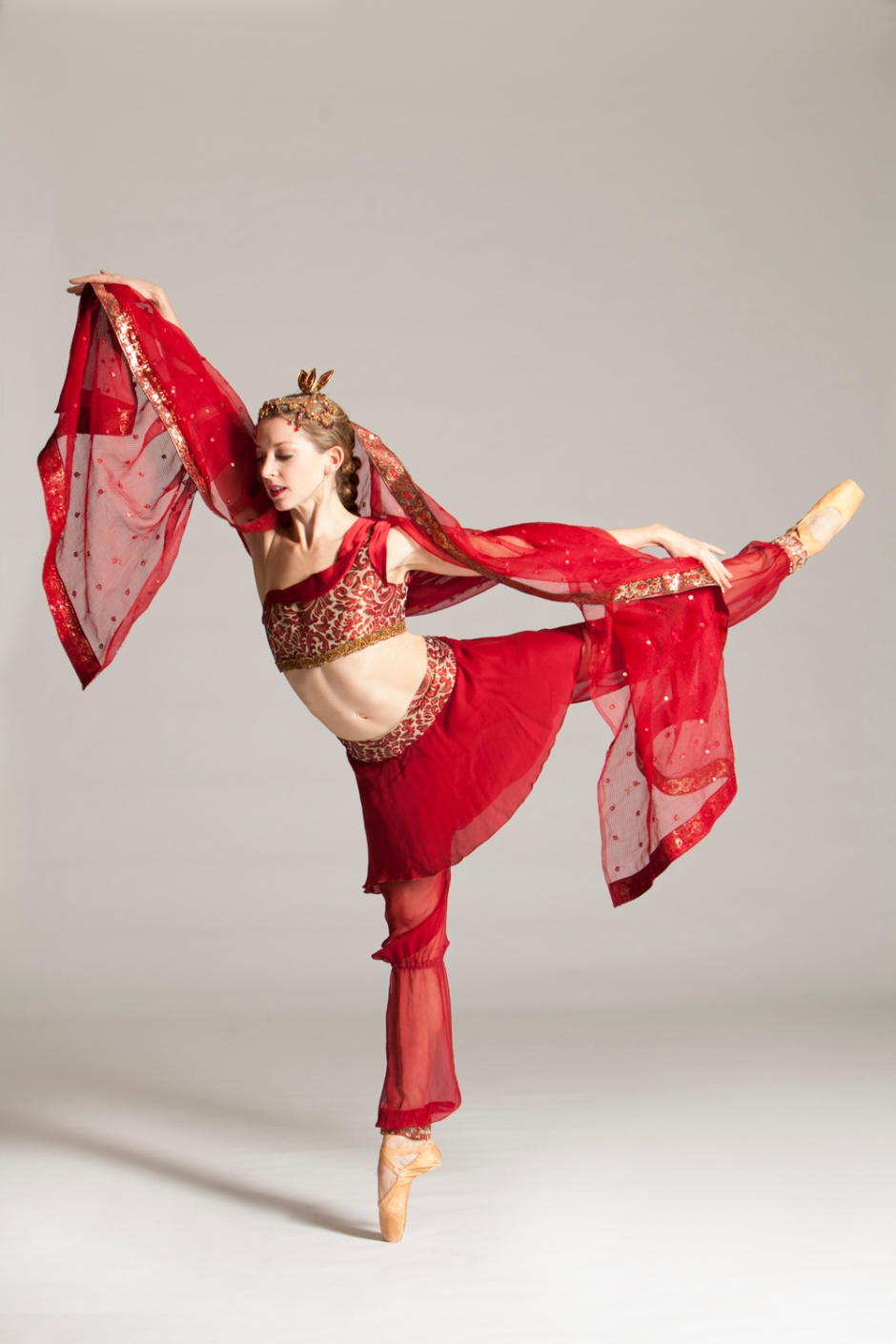 """PBT will perform """"La Bayadere"""" April 17-19, 2015 at the Benedum Center. Pictured is dancer Alexandra Kochis. Photo by Duane Rieder."""