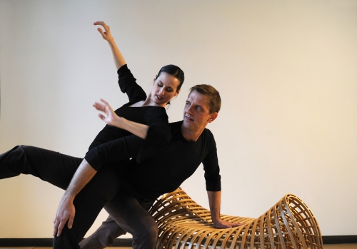 Michele de la Reza and Peter Kope of Attack Theatre. Photo by Martha Rial .