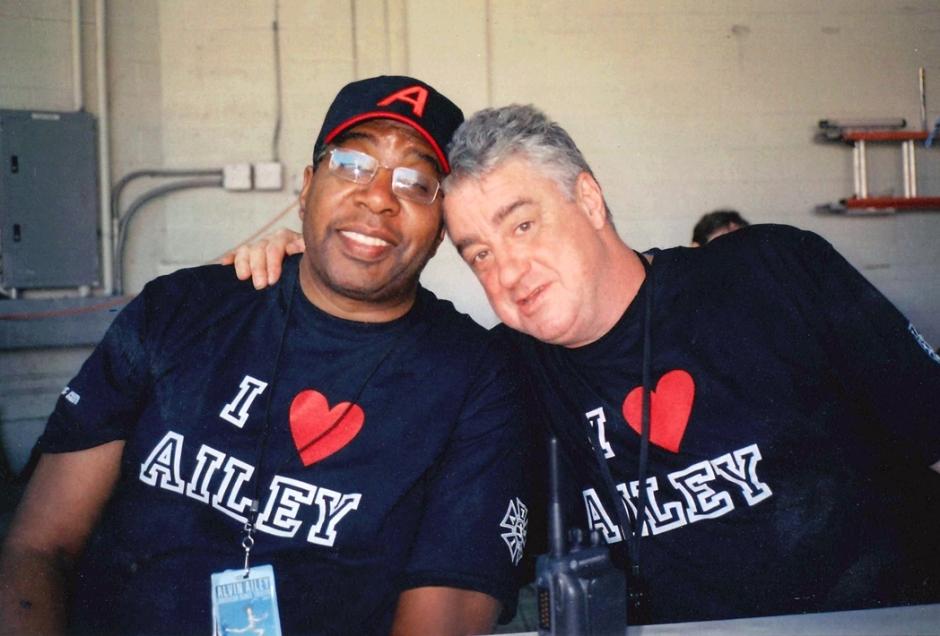 Alvin Ailey American Dance Theater's Calvin Hunt (left) and E.J. Corrigan (right), courtesy of Alvin Ailey American Dance Theater.