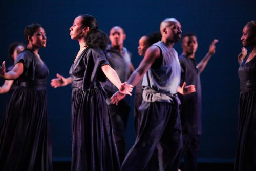 """Ronald K. Brown/Evidence performs """"On Earth Together."""" Photo by Ayodele Casel."""