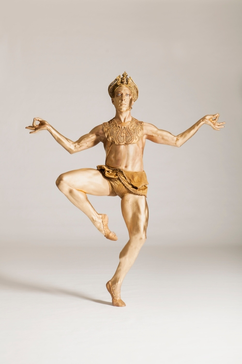 Christopher Budzynski as the Bronze Idol. Photo by Duane Rieder.