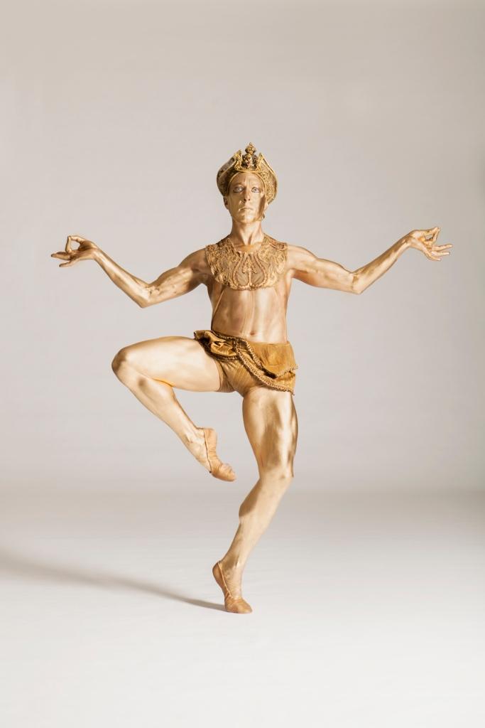 Christopher Budzynski as the Bronze Idol. Photo by Duane Rieder.