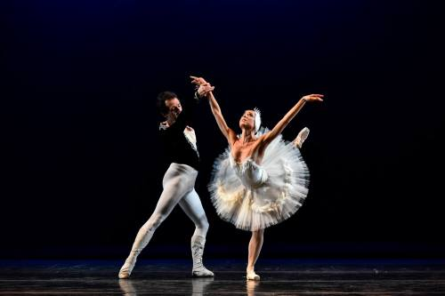Sergio Neglia and Silvina Vaccarelli in the White Swan pas de deux from