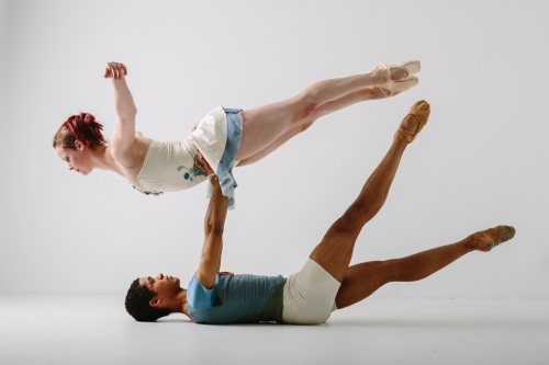 Texture Contemporary Ballet's Kelsey Batman & Alan Obuzor. Photographer Katie Ging.