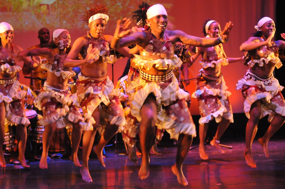 Kulu Mele African Dance and Drum Ensemble.  Photo courtesy of  the company.