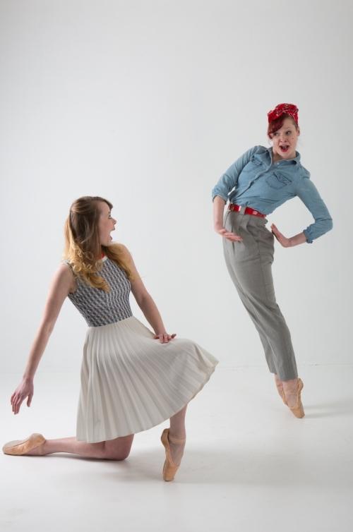 Dancers Kelsey Bartman & Brynn Vogel in Bartman's