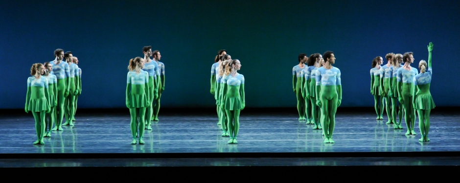 The company in Mark Morris' Sandpaper Ballet. Photo by Rich Sofranko.