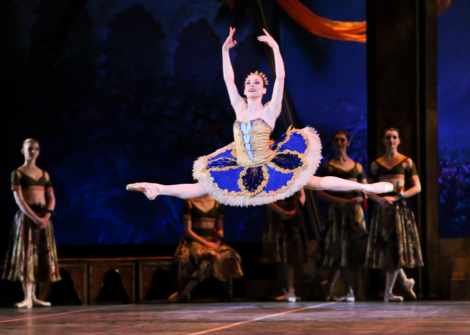 Soloist Gabrielle Thurlow in a scene from La Bayadère. Photo by Rich Sofranko.