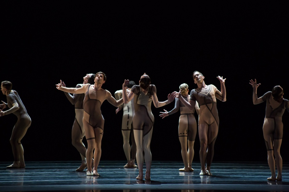 "BalletMet dancers in James Kudelka's ""Real Life."" Photo by Jennifer Zmuda."