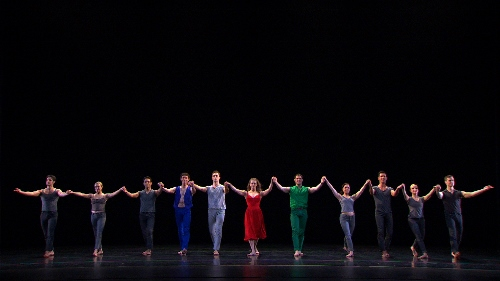 Paul Taylor Company dancers in a scene from