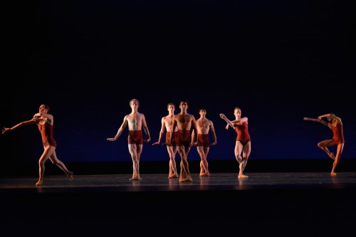 "Neos Dance Theatre & Cleveland Ballet dancers in Robert Wesner's ""Searching for the Find.""  Photo by Mark Horning."