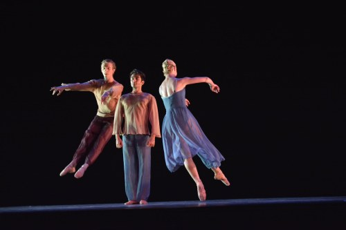 "Neos Dance Theatre & Cleveland Ballet dancers in Joseph Morrissey's ""Suite for Strings."" Photo by Mark Horning."