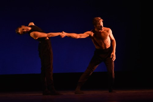 "Neos Dance Theatre's Brooke and Robert Wesner in Robert Wesner's ""necessary.negatives."" Photo by Mark Horning."