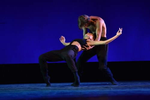 """Neos Dance Theatre's Brooke and Robert Wesner in Robert Wesner's """"necessary.negatives."""" Photo by Mark Horning."""
