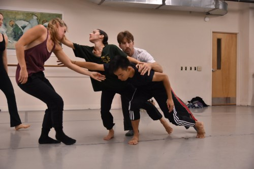 GroundWorks DanceTheater dancers rehearsing David Shimotakahara's