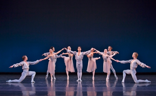 BalletMet's Miguel Anaya (center ) and company in George Balanchine's