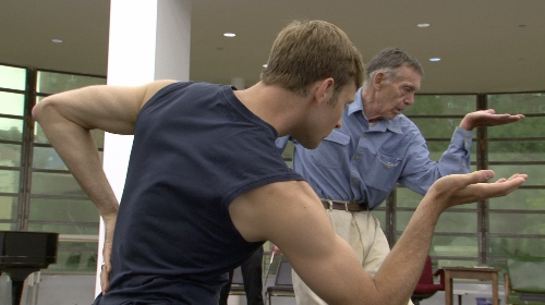 Dancer James Samson and Paul Taylor in a scene from