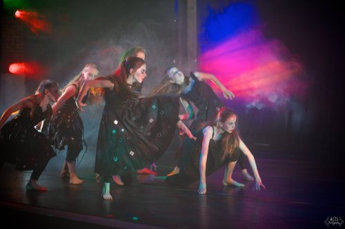 "LEB Student dancers in Robert Wesner's ""Count …The Legend of Dracula ."""
