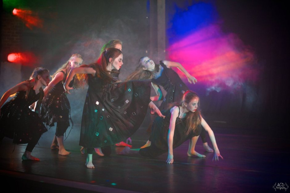"""LEB Student dancers in Robert Wesner's """"Count …The Legend of Dracula ."""""""