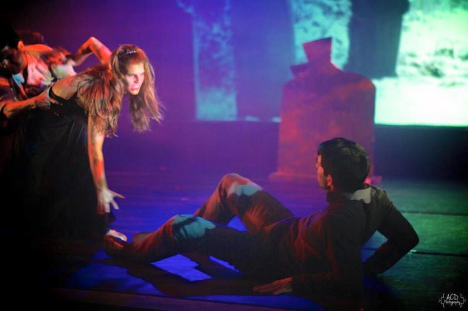 """(L-R) Juliana Freude and Ethan Lee in Robert Wesner's """"Count …The Legend of Dracula ."""" Photo by Ashlyn Duke."""