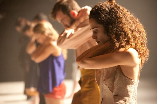 Vertigo Dance Company dancers in Noa Wertheim's 'Reshimo.' Photo by Maayan Hotam.
