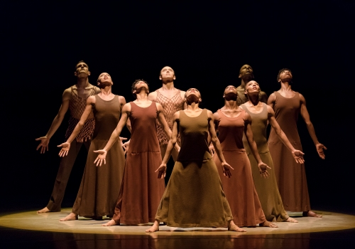 Alvin Ailey American Dance Theater in Alvin Aileys Revelations. Photo by Paul Kolnik 13