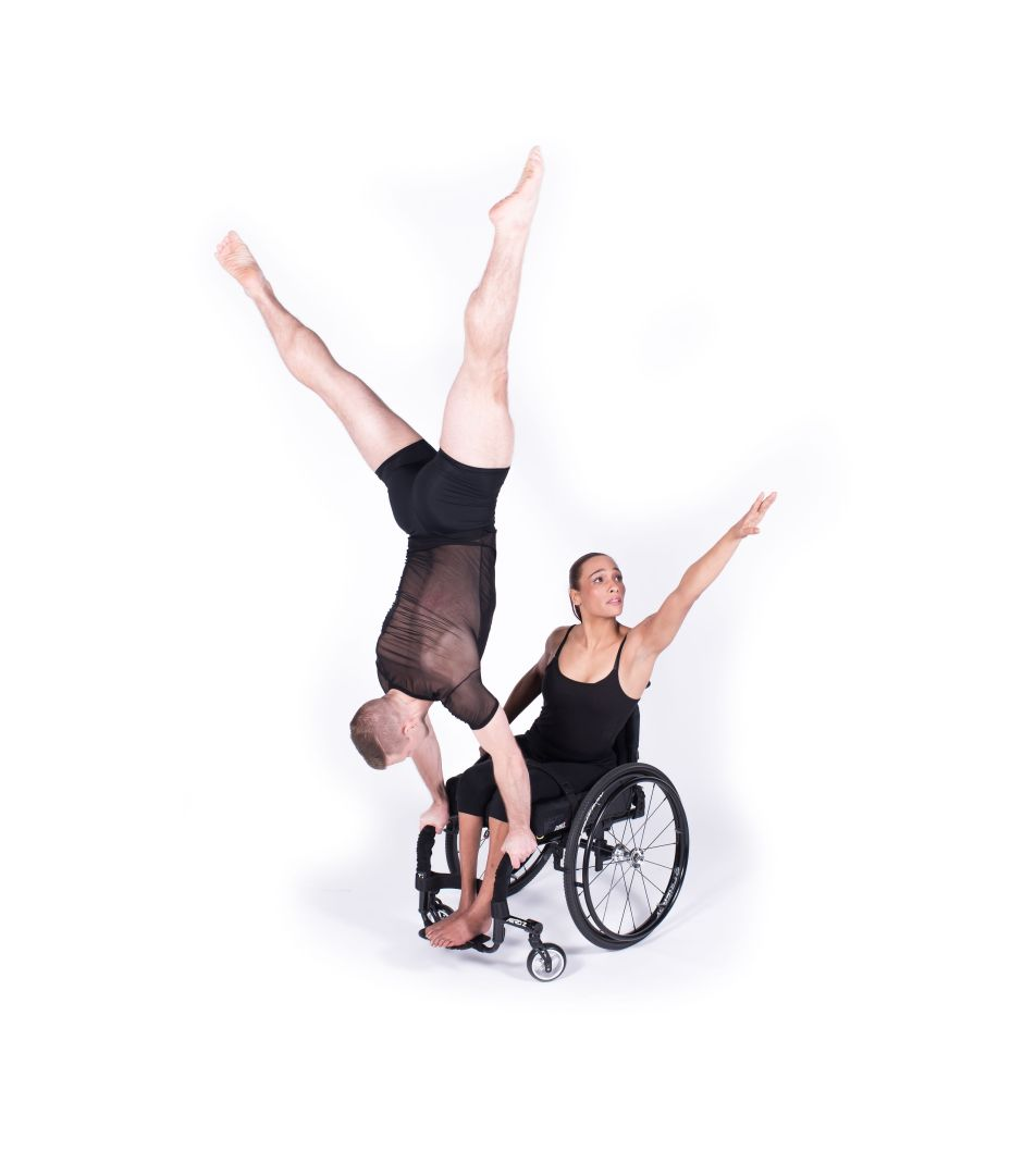 Matt Bowman and Tanya Ewell of The Dancing Wheels Company in Od.yssey choreographed by Marc Brew. Photo credit Robert Howard.